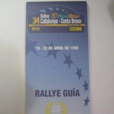 Coches y Motocicletas: RALLYE GUIA 34 RALLYE MOVISTAR CATALUNYA-COSTA BRAVA CAMPEONATO DEL MUNDO MICHELIN RACC CLUB. Lote 168848512