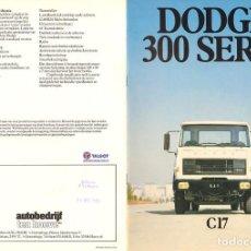 Coches y Motocicletas: DODGE TRUCK TALBOT C17 SERIE 300 1980 CATÁLOGO 12 PÁGINAS HOLANDÉS POST BARREIROS. Lote 169014024