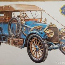 Coches y Motocicletas: LAMINA COCHE ANTIGUO - ITALA - 38 X 24 CMS. Lote 169068612