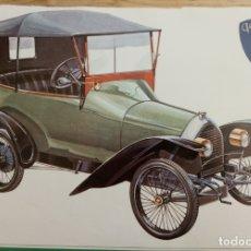 Coches y Motocicletas: LAMINA COCHE ANTIGUO - PEUGEOT - 38 X 24 CMS. Lote 169068788