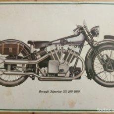 Coches y Motocicletas: LAMINA MOTO ANTIGUA - BROUGH SUPERIOR SS 100 1930 - 37.5 X 22.5 CMS. Lote 169068940