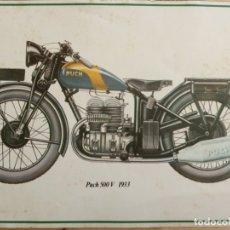 Coches y Motocicletas: LAMINA MOTO ANTIGUA - PUCH 500 V 1933 - 37.5 X 22.5 CMS. Lote 169069056