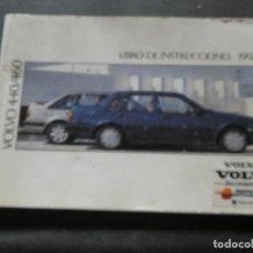 Coches y Motocicletas: LIBRO DE INSTRUCCIONES DE 1992 DEL VOLVO 440-460. Lote 169205120