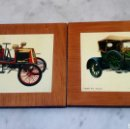 Coches y Motocicletas: DOS CUADROS CON FOTO COCHES HISTORICOS / BELZISE 1912 Y RENAULT 1899. Lote 169317664