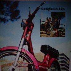 Coches y Motocicletas: CATALOGO TECNICO PUBLICITARIO ORIGINAL MOTO VESPA VESPINO GL . Lote 169711004