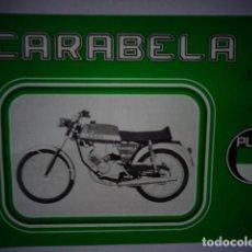 Coches y Motocicletas: CATALOGO TECNICO PUBLICITARIO ORIGINAL CICLOMOTOR PUCH CARABELA SUPER . Lote 169712564