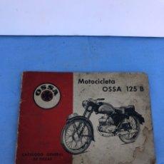 Coches y Motocicletas: CATÁLOGO MOTO OSSA 125. Lote 169975368