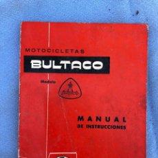 Coches y Motocicletas: MANUAL BULTACO. Lote 169977634