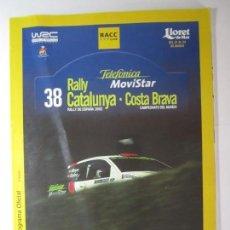 Coches y Motocicletas: PROGRAMA OFICIAL 38 RALLY CATALUNYA-COSTA BRAVA RALLY DE ESPAÑA 2002 CAMPEONATO DEL MUNDO . Lote 170082340