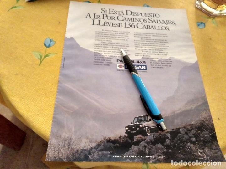 ANTIGUO ANUNCIO PUBLICIDAD REVISTA NISSAN PATROL 4 X 4 136 CV ESPECIAL PARA ENMARCAR (Coches y Motocicletas Antiguas y Clásicas - Catálogos, Publicidad y Libros de mecánica)