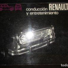 Coches y Motocicletas: MANUAL DE CONDUCCIÓN Y ENTRETENIMIENTO DEL RENAULT 4. Lote 170405020
