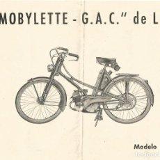 Coches y Motocicletas: CICLOMOTOR MOBYLETTE G A C DE LUJO MODELO AV 31 EIBAR GUIPUZCOA. Lote 170436044