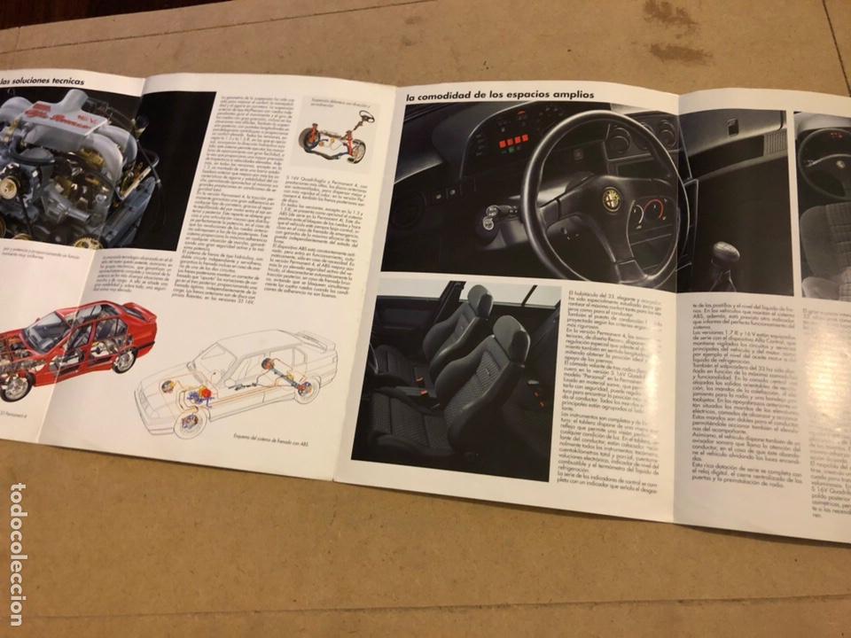 Coches y Motocicletas: ALFA ROMEO 33. CATÁLOGO OFICIAL PRIMEROS AÑOS 90. - Foto 3 - 170463513