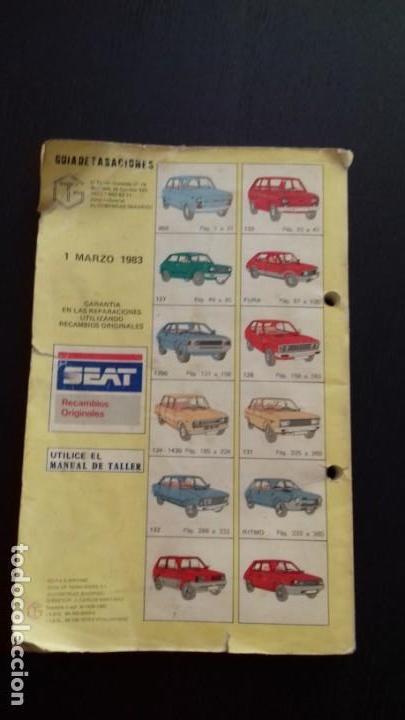 Coches y Motocicletas: GUÍA DE TASACIONES. 1983. SEAT Modelos 850, 133, 127, Fura, 1200, 128, 124, 1430, 131, 132, Ritmo, P - Foto 5 - 170488988