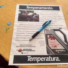 Coches y Motocicletas: ANTIGUO ANUNCIO PUBLICIDAD REVISTA ACEITE REPSOL COMPETICION CAMPEONATO MUNDIAL RALLYES. Lote 170491708