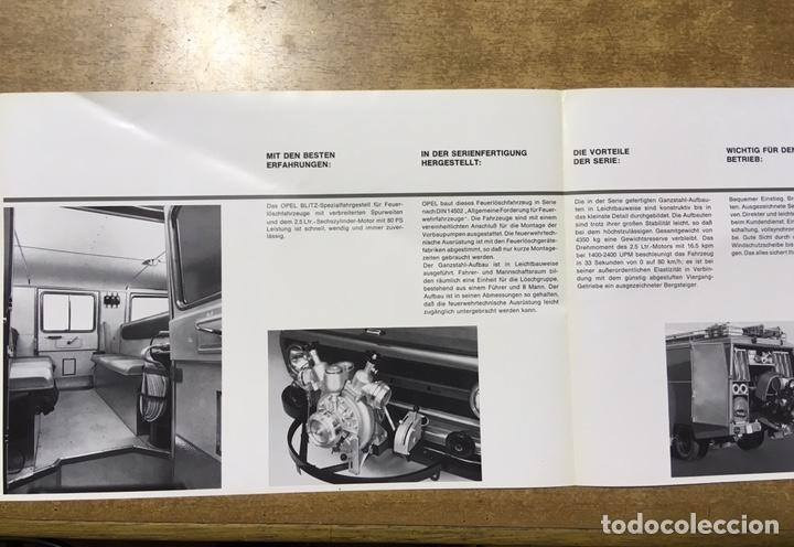 Coches y Motocicletas: OPEL BLITZ - CATALOGO - CAMION BOMBEROS - GRUPO EXTINCIÓN INCENDIOS - LF-8 TS - CARGA TRASERA - Foto 3 - 170503530