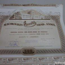 Coches y Motocicletas: INTERESANTE ACCION AUTOMOVILES EUCORT BARCELONA AÑO 1947 . Lote 170859060