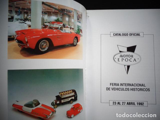 Coches y Motocicletas: PROGRAMA MEMORIA FERIA INTERNACIONAL VEHICULOS HISTORICOS MOTOR EPOCA VALENCIA 1992 - Foto 2 - 171093097