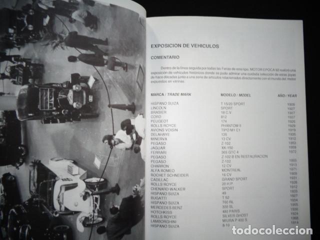 Coches y Motocicletas: PROGRAMA MEMORIA FERIA INTERNACIONAL VEHICULOS HISTORICOS MOTOR EPOCA VALENCIA 1992 - Foto 3 - 171093097