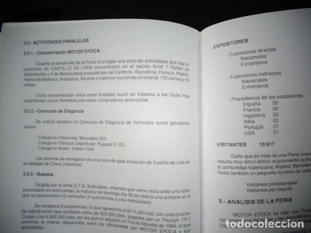 Coches y Motocicletas: PROGRAMA MEMORIA FERIA INTERNACIONAL VEHICULOS HISTORICOS MOTOR EPOCA VALENCIA 1992 - Foto 5 - 171093097