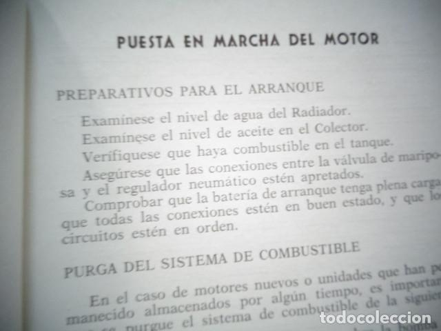 Coches y Motocicletas: MANUAL TALLER ORIGINAL MOTOR PERKINS HISPANIA DIESEL TIPO P 6 AGOSTO 1962 - Foto 3 - 171093333