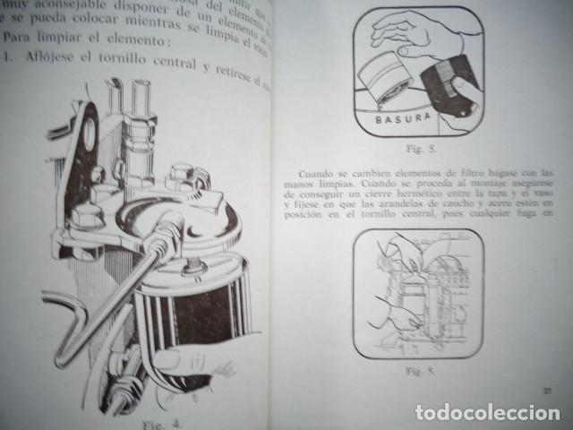 Coches y Motocicletas: MANUAL TALLER ORIGINAL MOTOR PERKINS HISPANIA DIESEL TIPO P 6 AGOSTO 1962 - Foto 4 - 171093333