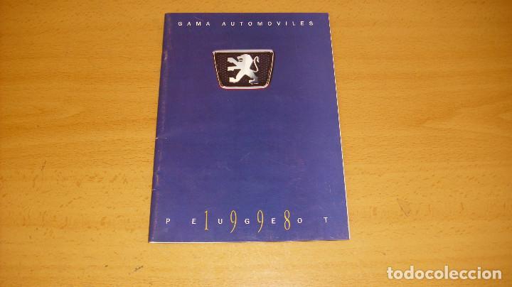 CATÁLOGO PEUGEOT 1998 AUTOMÓVIL COCHE (Coches y Motocicletas Antiguas y Clásicas - Catálogos, Publicidad y Libros de mecánica)