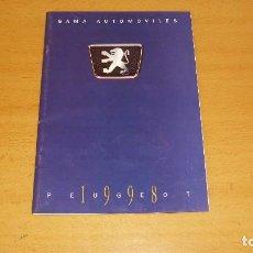 Coches y Motocicletas: CATÁLOGO PEUGEOT 1998 AUTOMÓVIL COCHE. Lote 171098458