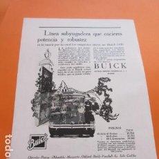 Coches y Motocicletas: PUBLICIDAD AÑO 1929 - COLECCION COCHES - BUICK GENERAL MOTOR PENINSULAR. Lote 171171320