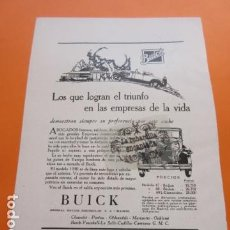 Coches y Motocicletas: PUBLICIDAD AÑO 1929 - COLECCION COCHES - BUICK GENERAL MOTOS PENINSULAR. Lote 171171363