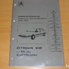 Coches y Motocicletas: MANUAL DE TALLER CITROEN XM ELECTRICIDAD TOMO 4 1995 REPARACIÓN AUTOMÓVIL COCHE. Lote 171353173