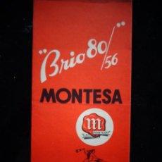 Coches y Motocicletas: CATALOGO TECNICO ORIGINAL MONTESA MODELO BRIO 80 1956 PERMANYER. Lote 172048085