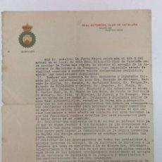 Coches y Motocicletas: REAL AUTOMÓVIL CLUB DE CATALUÑA Y MEMORIA 1911. Lote 172153988