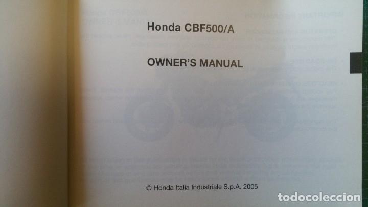 Coches y Motocicletas: MANUAL DEL PROPIETARIO HONDA CBF 500 CBF500 /A (ORIGINAL) IDIOMA ESPAÑOL/INGLES/PORTUGUES - Foto 2 - 172313924