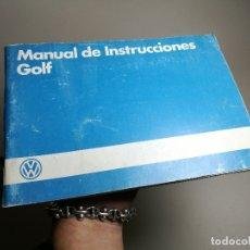 Coches y Motocicletas: MANUAL USUARIO INSTRUCCIONES VOLKSWAGEN VW GOLF 1985- MKI EN ESPAÑOL--REF-DC. Lote 172610528