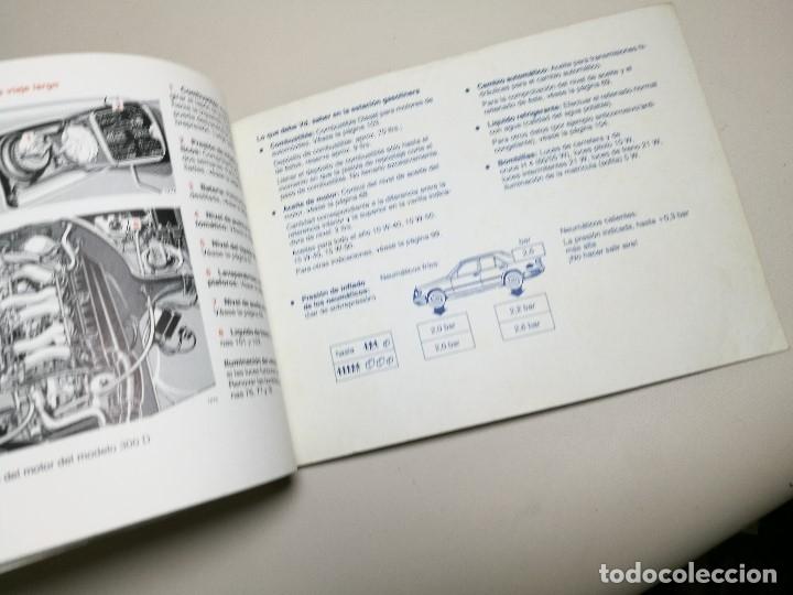 Coches y Motocicletas: MANUAL USUARIO INSTRUCCIONES MERCEDES 200-250-300 D MODELO 124 EN ESPAÑOL-1983-REF-DC - Foto 6 - 172611284