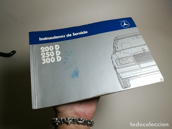 MANUAL USUARIO INSTRUCCIONES MERCEDES 200-250-300 D MODELO 124 EN ESPAÑOL-1983-REF-DC (Coches y Motocicletas Antiguas y Clásicas - Catálogos, Publicidad y Libros de mecánica)