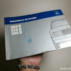 Coches y Motocicletas: MANUAL USUARIO INSTRUCCIONES MERCEDES 200-250-300 D MODELO 124 EN ESPAÑOL-1983-REF-DC. Lote 172611284