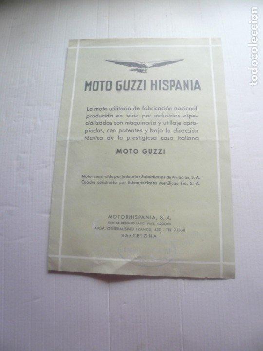 MOTO GUZZI (Coches y Motocicletas Antiguas y Clásicas - Catálogos, Publicidad y Libros de mecánica)