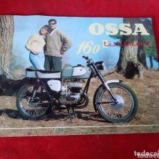 Coches y Motocicletas: FOLLETO DE PUBLICIDAD DE LA MOTO OSSA MODELO 160 TURISMO. Lote 172650618