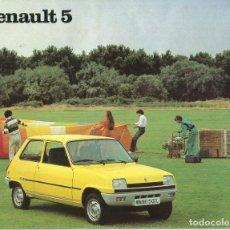 Coches y Motocicletas: RENAULT 5 COPA -TS - GTL - TL - CATALOGO PUBLICITARIO FASA / RENAULT AÑO 1979 20 PAGINAS. Lote 172658644