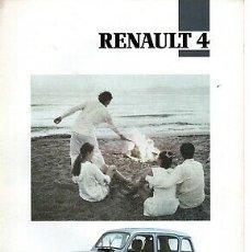 Coches y Motocicletas: CATALOGO RENAUL 4 JULIO 1991. Lote 179208151