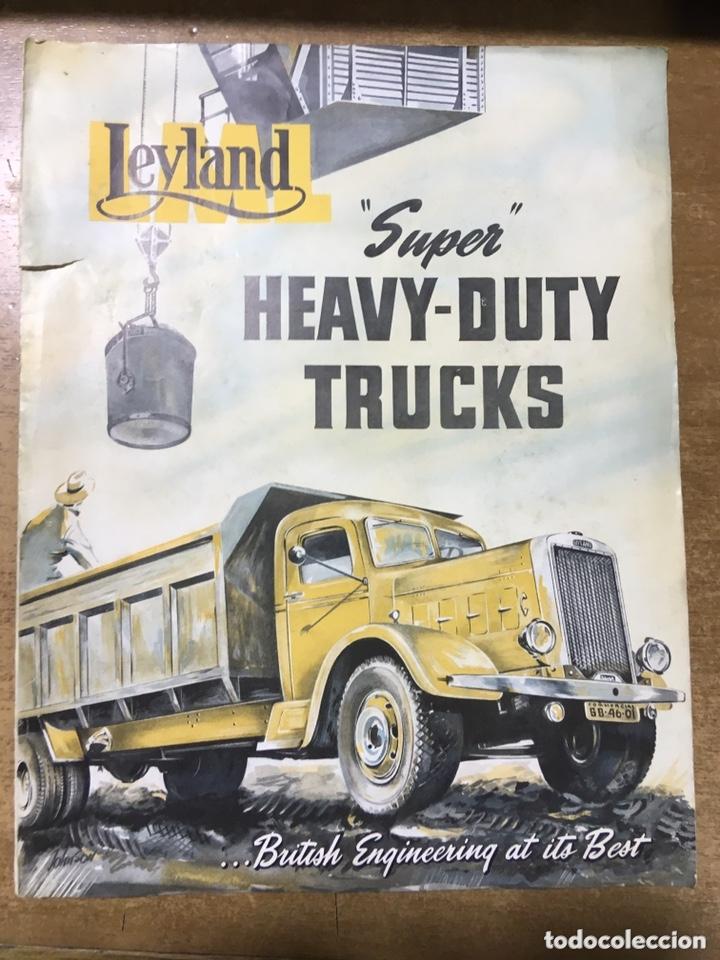 LEYLAND HEAVY DUTY TRUCKS - CAMIONES - CATALOGO - 30X23 CM (Coches y Motocicletas Antiguas y Clásicas - Catálogos, Publicidad y Libros de mecánica)