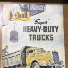 Coches y Motocicletas: LEYLAND HEAVY DUTY TRUCKS - CAMIONES - CATALOGO - 30X23 CM. Lote 172692334
