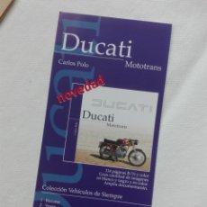 Coches y Motocicletas: FOLLETO HOJA - EDICION BENZINA 2000 - MOTO DUCATI. Lote 172719523