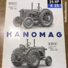 Coches y Motocicletas: FOLLETO PROSPECTO TRACTOR HANOMAG R 25-C - R 25-D. Lote 194597686