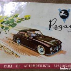 Coches y Motocicletas: CATÁLOGO COCHE PEGASO TIPO 102 - ENASA - PLASTIFICADO. Lote 172852560