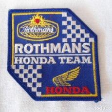 Coches y Motocicletas: PARCHE BORDADO ROTHMANS HONDA. Lote 172888854