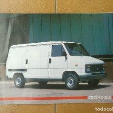 Coches y Motocicletas: CITROEN C-25 D - CATALOGO PUBLICIDAD ORIGINAL - 1986 - ESPAÑOL. Lote 172963170