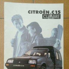 Coches y Motocicletas: FOLLETO CATALOGO PUBLICIDAD CITROËN C - 15 CUMBRE 1994. Lote 173030887